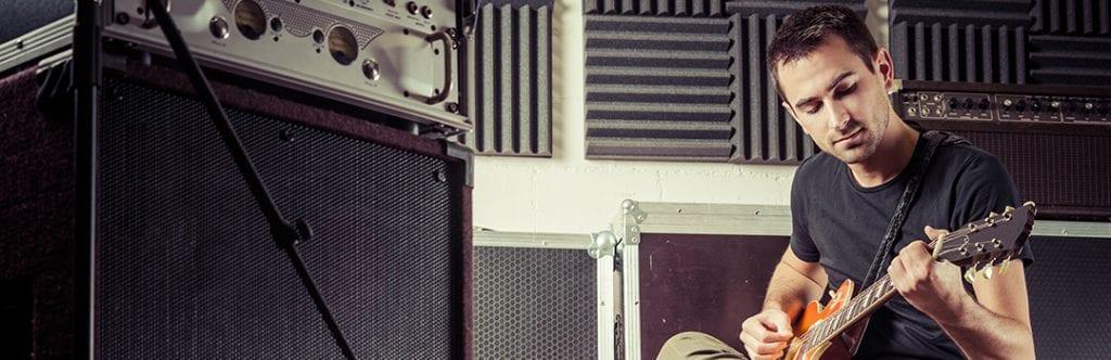 acoustic foam guitar studio