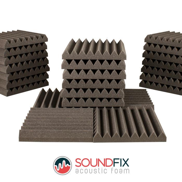 acoustic foam panels grey tiles