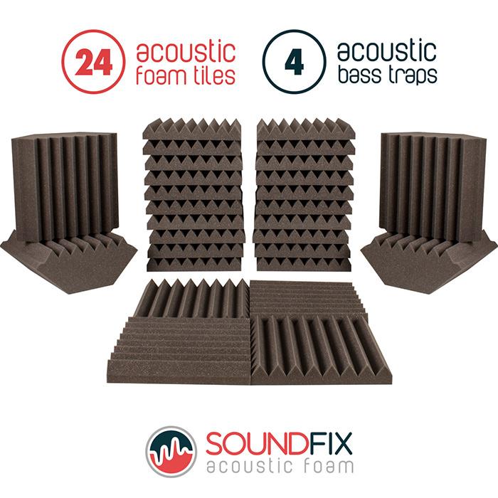 acoustic foam sound treatment kit