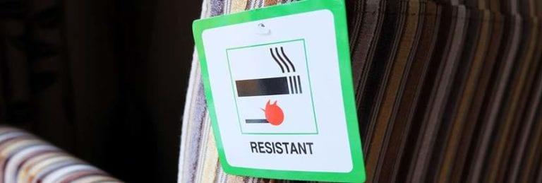 fire retardant foam upholstery fire label